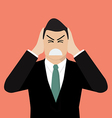 Businessman covering his ears with his hands vector image vector image