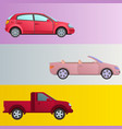 car auto vehicle banner transport type design vector image vector image