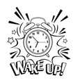 cartoon alarm clock isolated on white vector image vector image