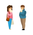 Cartoon Sick Man and Woman vector image vector image