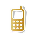 cell phone sign golden gradient icon with vector image vector image