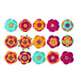 chinese decorative icons flowers and chinese vector image
