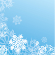christmas background with snowflakes on blue vector image vector image