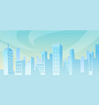 city panorama office house buildings at distance vector image vector image