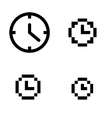 clock set vector image vector image