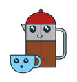 coffe time design vector image vector image