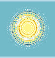 concept abstract sun design element vector image