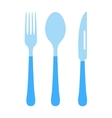 Cutlery set fork knife and spoon vector image vector image