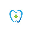 dental logo template icon vector image vector image
