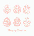 easter paper cut easter eggs vector image