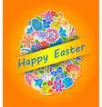 Easter Symbol Egg and Spring flower 4 vector image vector image