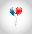 Flying balloons in american flag colors vector image vector image
