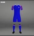 football kit of iceland 2018 vector image vector image