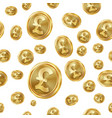 gbp seamless pattern gold coins isolated vector image vector image