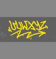 graffiti alphabet vector image vector image
