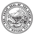 great seal state nevada vintage vector image vector image