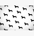 greeting card with black silhouettes of dog breed vector image vector image