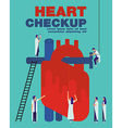 Heart checkup cover flat vector image
