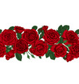 horizontal seamless background with red roses vector image vector image