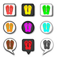 icon logo for set symbols summer slippers sandal vector image