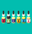 isometric e-liquid bottle for vaping vector image