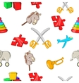 Kids fun pattern cartoon style vector image vector image
