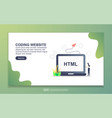 landing page template coding website modern vector image vector image