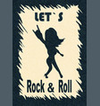 let s rock and roll showing the vector image