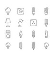 light bulb and electrical lines icons set vector image vector image