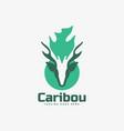 logo caribou color mascot style vector image