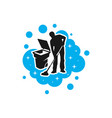 mens cleaning service modern logo vector image vector image
