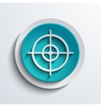 modern blue circle icon web element vector image