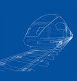 modern speed train concept vector image vector image