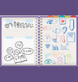 note from various subject vector image vector image