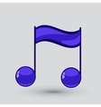 Note sing icon Musical symbol vector image