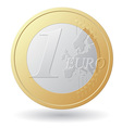 one euro coin vector image vector image
