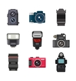 Photo studio icons set vector image