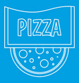 pizza restaurant label icon outline style vector image vector image