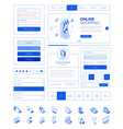 ready to use user interfaceui layout kit vector image