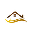 real estate logo home logo house logo simple vector image vector image