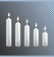 realistic detailed 3d white blank candle on a vector image vector image