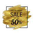sale golden blot vector image vector image