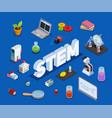 scientific education isometric composition vector image vector image