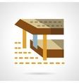 Sea terrace flat color simple icon vector image vector image