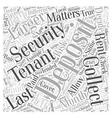 Security Deposit Matters Word Cloud Concept vector image vector image