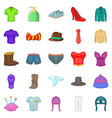 shorts icons set cartoon style vector image vector image