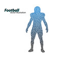silhouette of a football player from triangle vector image vector image