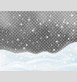 snowy landscape isolated on dark background vector image