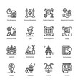 strategy and management icons bundle vector image vector image