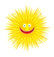 Sun smile Summer Yellow Sun Symbol summer vector image